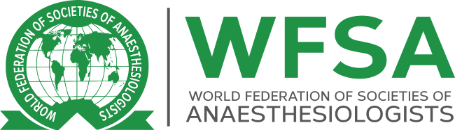 Logo if the Word Federation of Societies of Anaesthesiologists.
